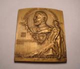 Placheta Regele Carol I Expozitiunea Generala din Romania 1906 Piesa de Colectie
