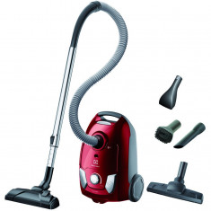 Aspirator cu sac EEG43WR, 650 W, filtru Epa 12, perie DustPro, Parketto, mini-turbo, tub telescopic din metal, rosu, Electrolux