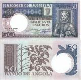 1973 ( 10 VI ) , 50 escudos ( P-105a ) - Angola - stare UNC