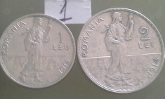 1LEU,2 LEI 1914/1 foto