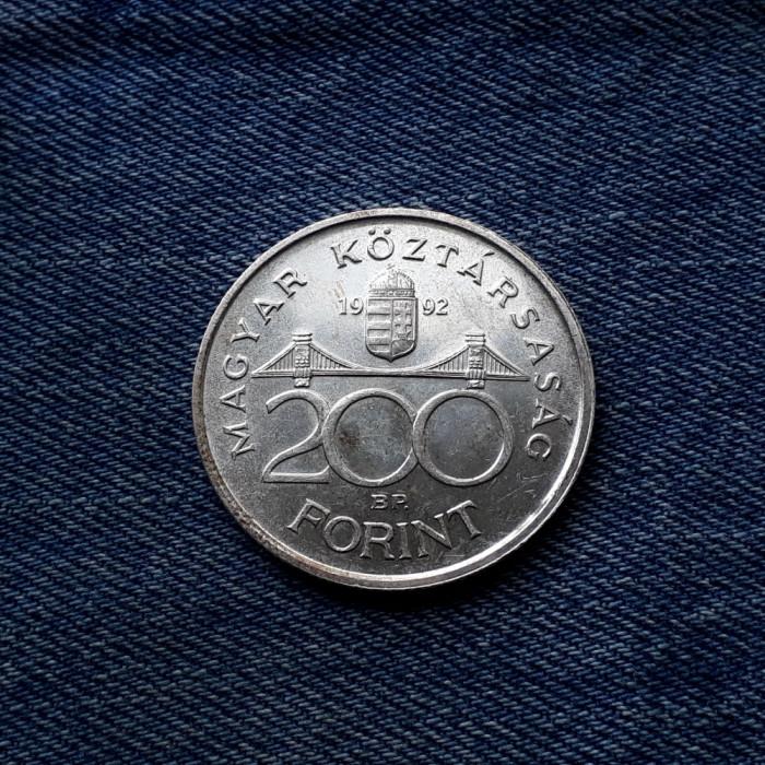 1d - 200 Forint 1992 Ungaria argint / Banca Nationala a Ungariei