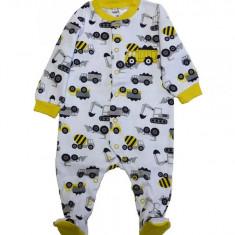 Salopeta / Pijama bebe imprimeu camioane Z112