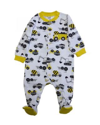Salopeta / Pijama bebe imprimeu camioane Z112 foto