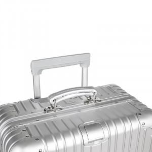 Troler aluminiu Spinner Kruger & Matz, 4 roti, 54 l, Argintiu