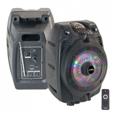 BOXA PORTABILA ILUMINATA LED 6 inch/15CM 50W RMS CU USB/SD/BT/FM