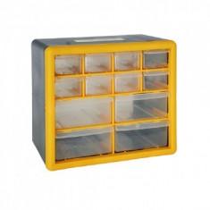 Organizator accesorii Strend Pro SBx3045-B, 12 sertare, 265x160x235 mm