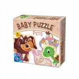 Set 4 puzzle-uri Baby Puzzle Pets - Animale, D-Toys