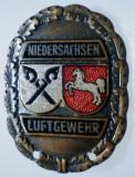 I.134 INSIGNA GERMANIA NIEDERSACHSEN TIR PUSCA LUFTGEWEHR h30mm email