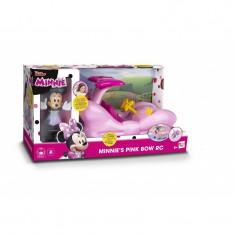 Masina Minnie Fashion si Figurina, telecomanda