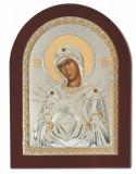 Icoana Maica Domnului Sapte Sabii Auriu15x21 cm Cod Produs 1499
