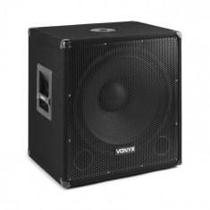 "Vonyx SMWBA18, subwoofer activ 18"", conector de flanșă, 1000 W max., MP3, BT"