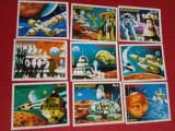 PARAGUAY, SPACE - SERIE COMPLETĂ MNH