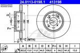 Disc frana ROVER 25 (RF) (1999 - 2005) ATE 24.0113-0198.1