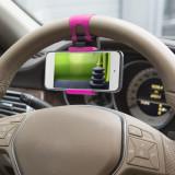 Suport telefon pt. volan - pink