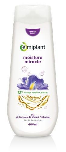 Gel de dus crema Moisture Miracle(iris&uleiuri pretioase), 400ml, Elmiplant