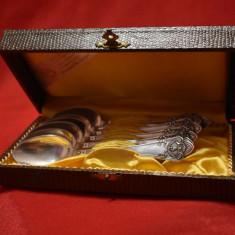 Set 6 Lingurite din Argint in cutie - marcaj Germania model deosebit - 134 grame