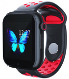 Cumpara ieftin Ceas Smartwatch cu telefon iUni Z6S, Touchscreen, Bluetooth, Notificari, Camera, Pedometru, Red