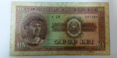 Bancnota 10 Lei - 1952 foto