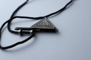 Amuleta islamica de protectie impotriva deochiului, tip cutie cu capac glisant