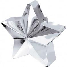 Greutate Stea Argintie pentru Baloane cu Heliu, Amscan 117800-18