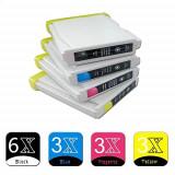 15 Cartuse imprimanta Brother LC1000 LC970 -6XLC970BK 3XLC970C 3XLC970M 3XLC970Y