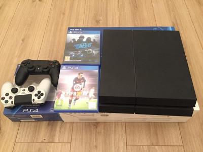 Consolă PS4 Jet Black 500 Gb cu 2 controllere si 2 jocuri foto