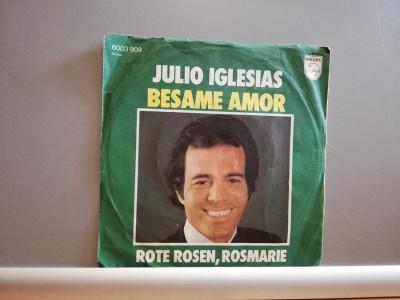 "Julio Iglesias – Besame Amor /Rote …(1978/Philips/RFG) -VINIL/""7 Single/NM foto"