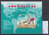 1986 Expozitia filatelica internationala AMERIPEX '86 Bl.227 LP1159 MNH, Sport, Nestampilat