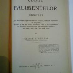 CODUL FALIMENTELOR ADNOTAT - GEORGE T. PALLADE