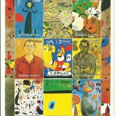 Guinea 1998 - picturi Jean Miro, bloc neuzat