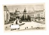 CP RPR Cluj - Piata Libertatii, circulata, 1957, Printata, Cluj Napoca