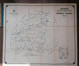 Harta cailor de comunicatie din judetul Braila pe anul 1908