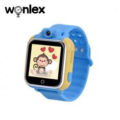 Ceas Smartwatch Pentru Copii Wonlex GW1000 cu Functie Telefon, Localizare GPS, Camera, 3G, Pedometru, SOS, Android - Albastru