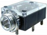 Conector jack 3,5mm, stereo, mama, pentru PCB - 121355