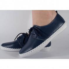 Pantofi bleumarin din piele naturala (cod 159011)