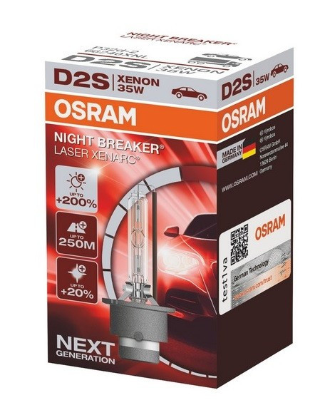 Bec Xenon Osram D2S Night Breaker Laser Next Gen +200%, 35W, P32d-2, cutie 1buc