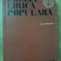 POEZIA LIRICA POPULARA - TACHE PAPAHAGI