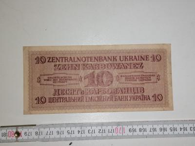 bancnota UCRAINA 10 ZEHN karbowanez 1942 foto