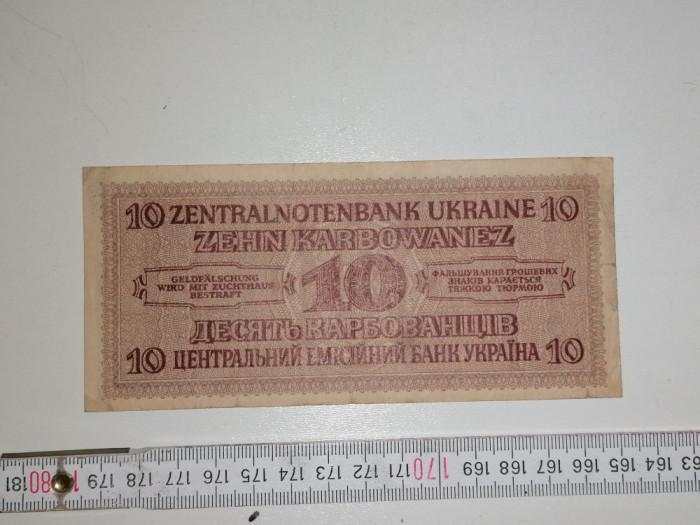 bancnota UCRAINA 10 ZEHN karbowanez 1942