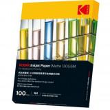 Hartie Kodak print medical HD inkjet, format A4, 130 g, mata, top 100 coli
