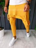Pantaloni VAGABOND - de trening pentru barbati - slim fit - mustar - A6384