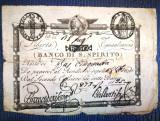 🔸 223 ani vechime 🔸 Republica Romana Vatican bancnota de 50 din anul 1798 🔸