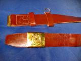 2004-RPR- Curea militara RSR- lungime 1.20M/latime 5 cm, stare buna.