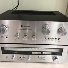 Linie Vintage Technics Amplificator SU-7600 Tuner ST-7600 Statie Radio