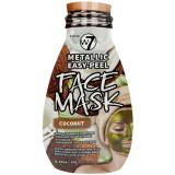 Cumpara ieftin Masca Metalica cu Cocos W7 Metallic Easy-Peel Vitamin Coconut Face Mask, 10 g