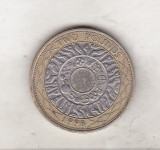 bnk mnd Marea Britanie Anglia 2 lire 1998 bimetal