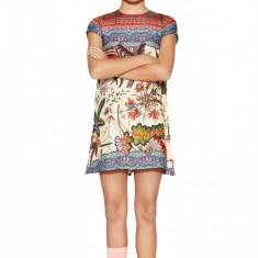 Rochie fete, evazata cu imprimeu floral Turin, Desigual, Marimea 9-10 ani, Multicolor