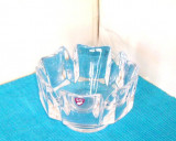 Cumpara ieftin Bol cristal masiv turnat manual - Corona 2 - design Lars Hellsten, Orrefors Swe