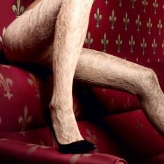 Ciorapi - Baci Ciorapi Sampanie din Dantela cu Model Floral 1146