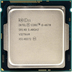 Procesor Intel Core i5-4670, 3.40GHz,/3,8 GHz-Haswell, Socket 1150
